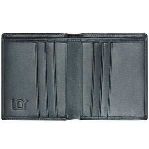 LUCHENGYI Men's Leather Bifold Wallet