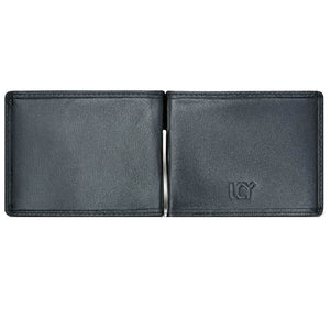 LUCHENGYI Men's Genuine Leather Money Clip Wallet Clip Slots