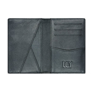 LUCHENGYI Men's Multi-functional Genuine Leather Card Holder