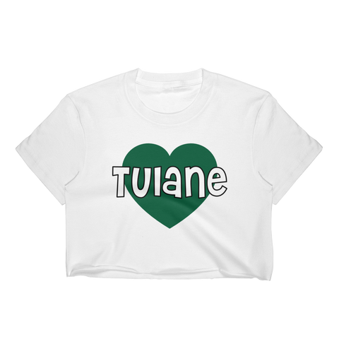 Tulane Heart Crop Top