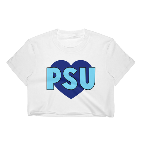 Penn State Heart Crop Top