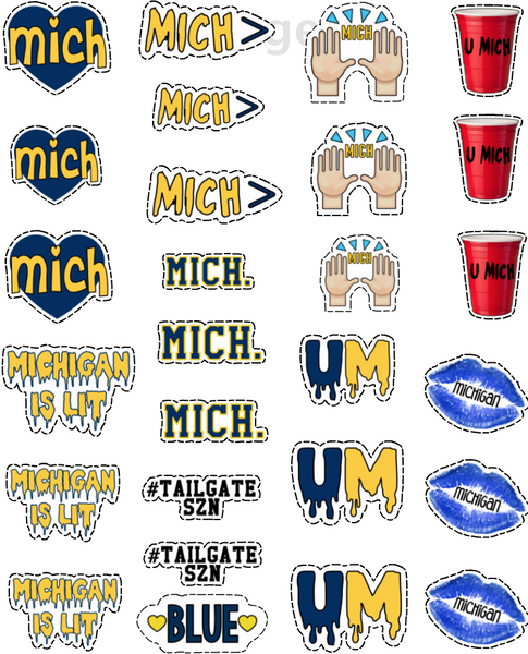 Michigan Tattoo Sheet