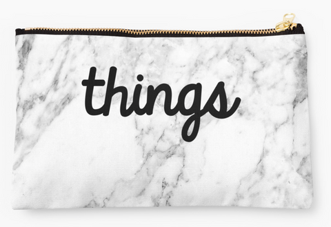 """Things"" Marble Pouch"