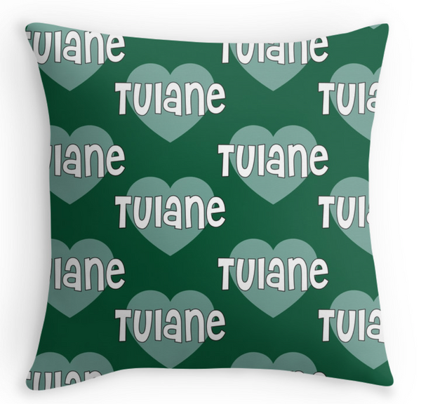 Tulane Hearts Pillow