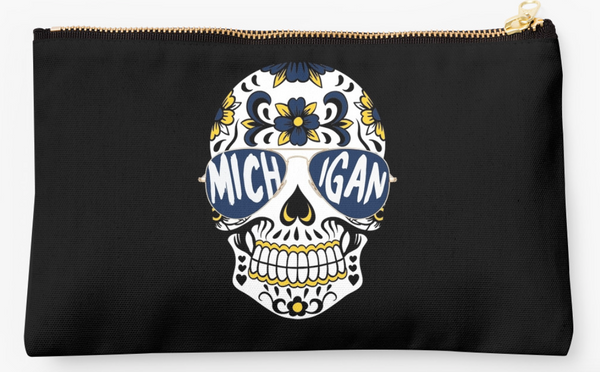 Michigan Skull Pouch