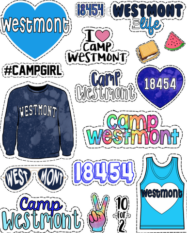 Camp Westmont Sticker Sheet