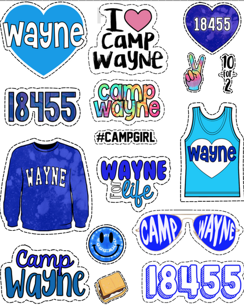 Wayne Sticker Sheet