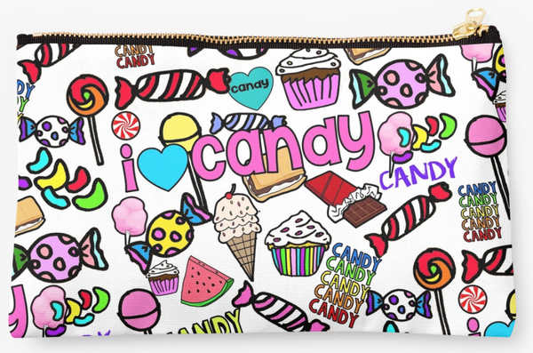 I Heart Candy White Pouch
