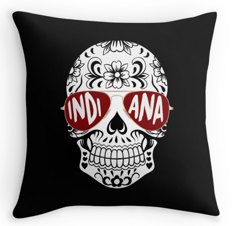 Indiana Skull Pillow