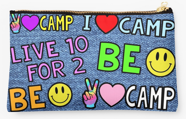 Faux Denim Camp Patch Pouch II