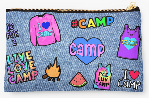Faux Denim Camp Patch Pouch I