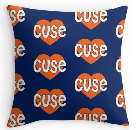 Syracuse Repeat Heart Pillow