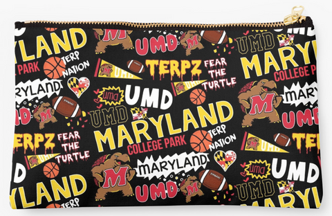 Black Maryland Spirit Pouch