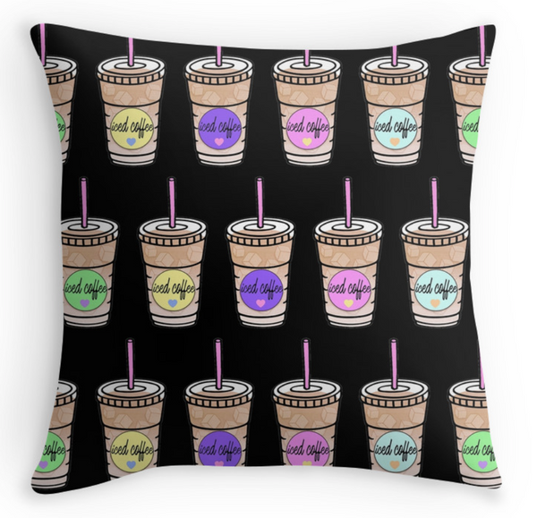 Iced Coffee Pillow