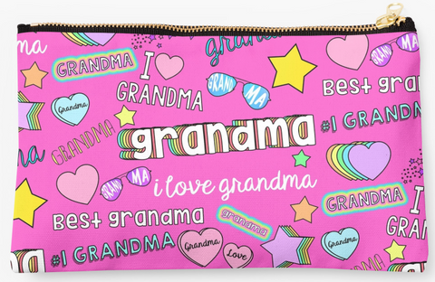 Best Grandma Collage Pouch