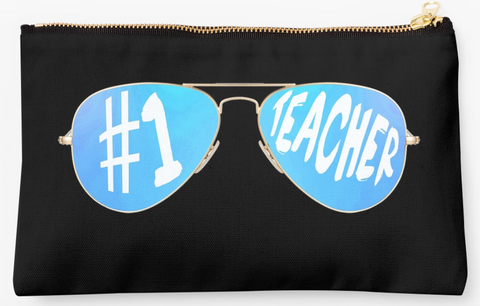 #1 Teacher Blue Ombre