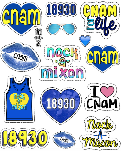 Nock-a-Mixon Sticker Sheet