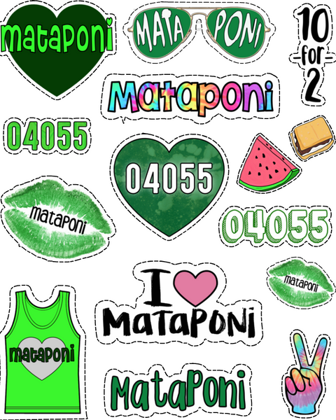 Mataponi Sticker Sheet