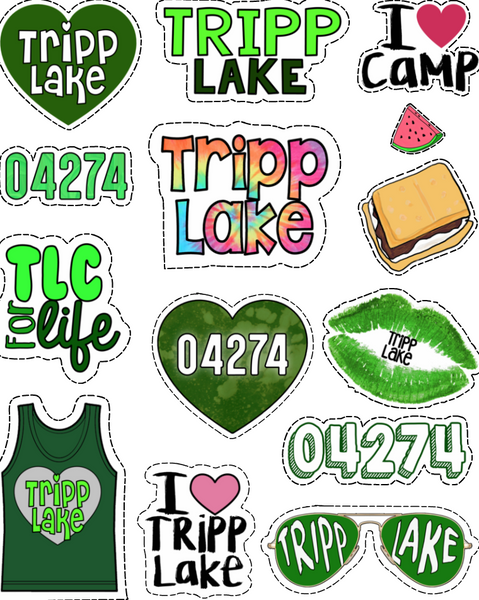 Tripp Lake Sticker Sheet