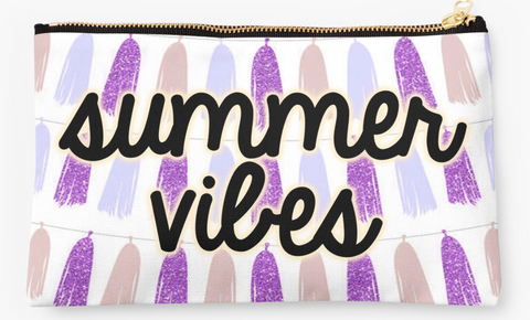 Summer Vibes Faux Tassel Pouch