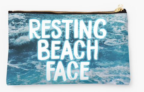 Resting Beach Face Pouch