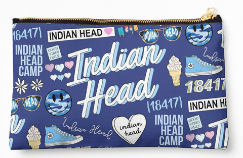 Indian Head Collage Pouch