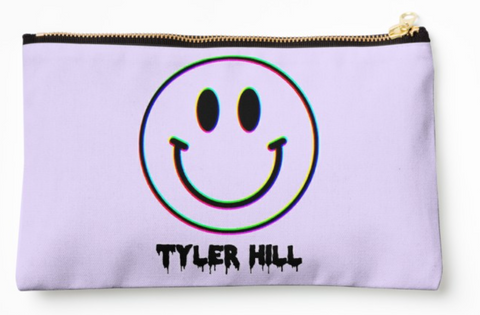 "Camp ""Trippy"" Smiley Face Pouch"