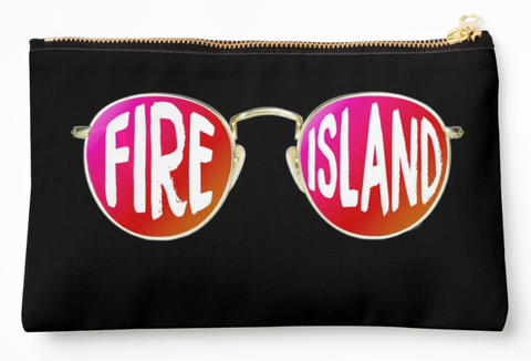 Fire Island Round Glasses Pouch