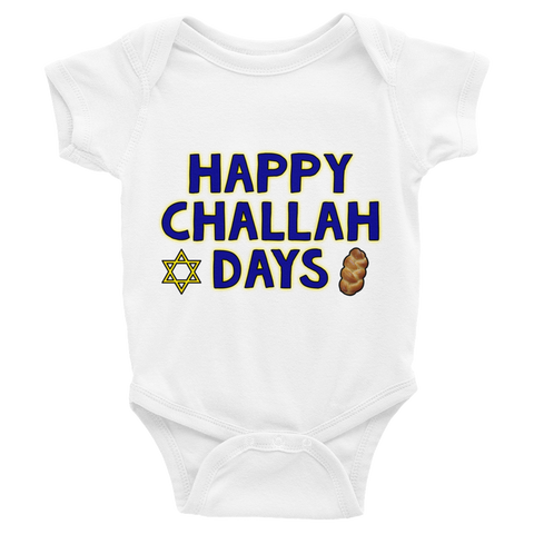 """Happy Challah Days"" Baby Onesie"