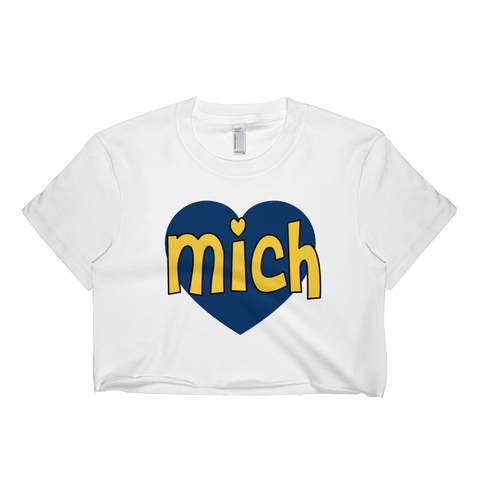 Michigan Heart Crop Top