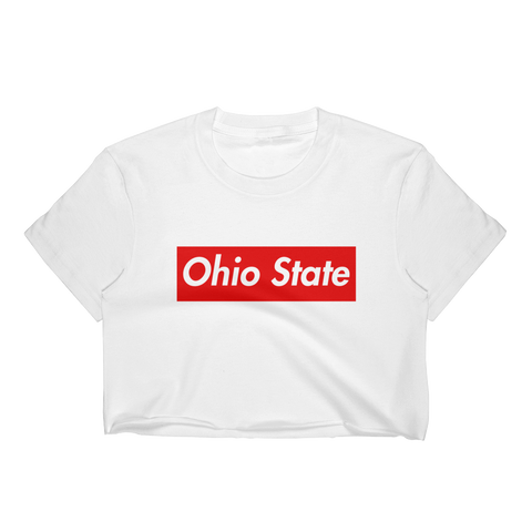 Ohio State Block Crop Top