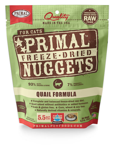 Primal Raw Freeze-Dried Feline Quail Formula