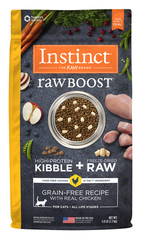 Instinct Raw Boost Grain-Free Recipe with Real Chicken for Cats