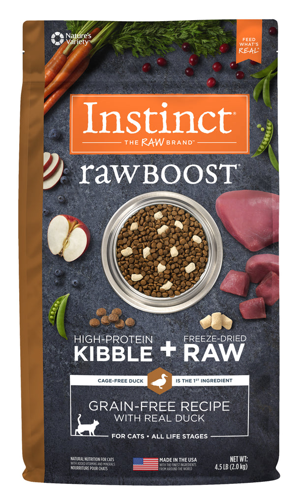 Instinct Raw Boost Grain-Free Recipe with Real Duck for Cats 4.5 lb.