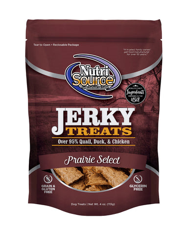 NutriSource Prairie Select Jerky Treats for Dogs 4 oz.