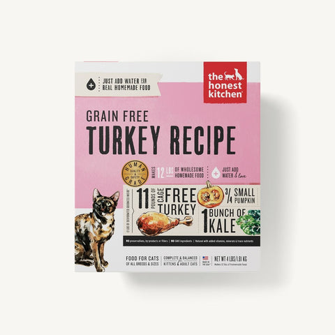The Honest Kitchen Dehydrated Grain Free Turkey Recipe (Grace) for Cats