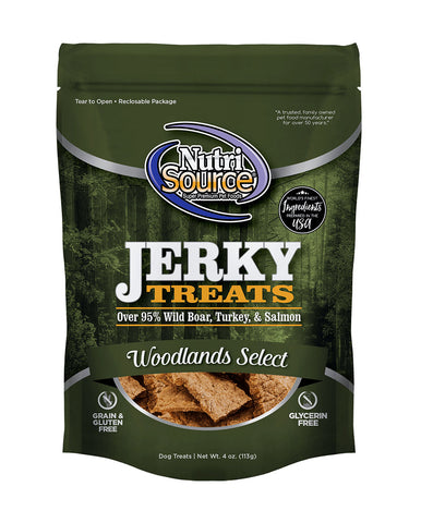 NutriSource Woodlands Select Jerky Treats for Dogs 4 oz.
