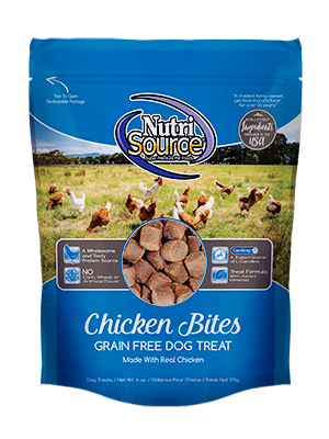NutriSource Grain Free Chicken Bites for Dogs 6 oz.