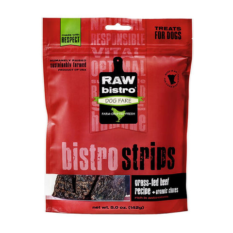 Raw Bistro Strips Beef & Cloves Dog Treats