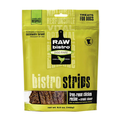 Raw Bistro Strips Chicken & Ginger Dog Treats