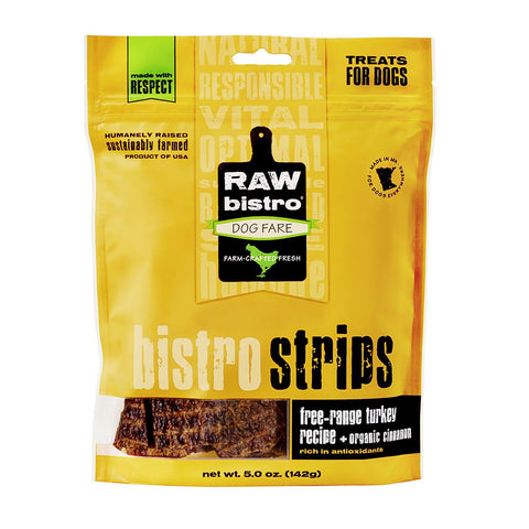 Raw Bistro Strips Turkey & Cinnamon Dog Treats