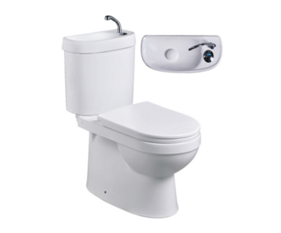 Built-in Basin Above Toilet Bowl