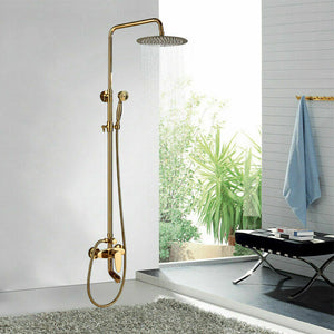 Gold Rain Shower Set