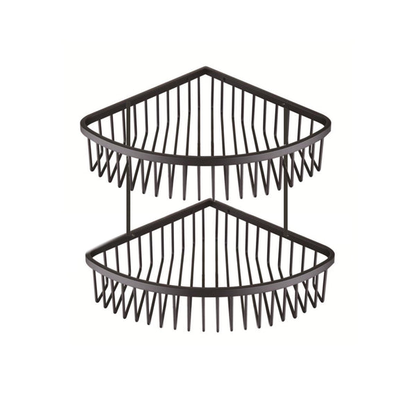 BLACK Bathroom Corner Basket / Shampoo Rack