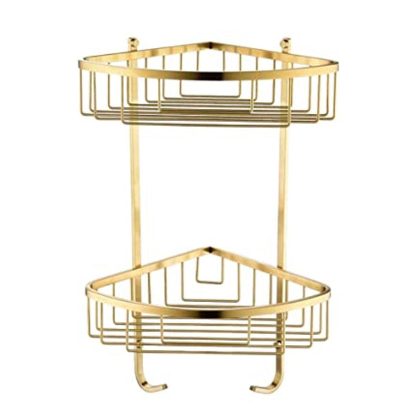 GOLD Bathroom Corner Basket / Shampoo Rack