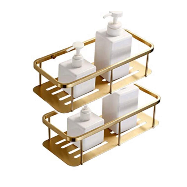 GOLD Bathroom Basket / Shampoo Rack