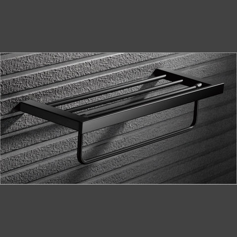 Bathroom BLACK Towel Rack