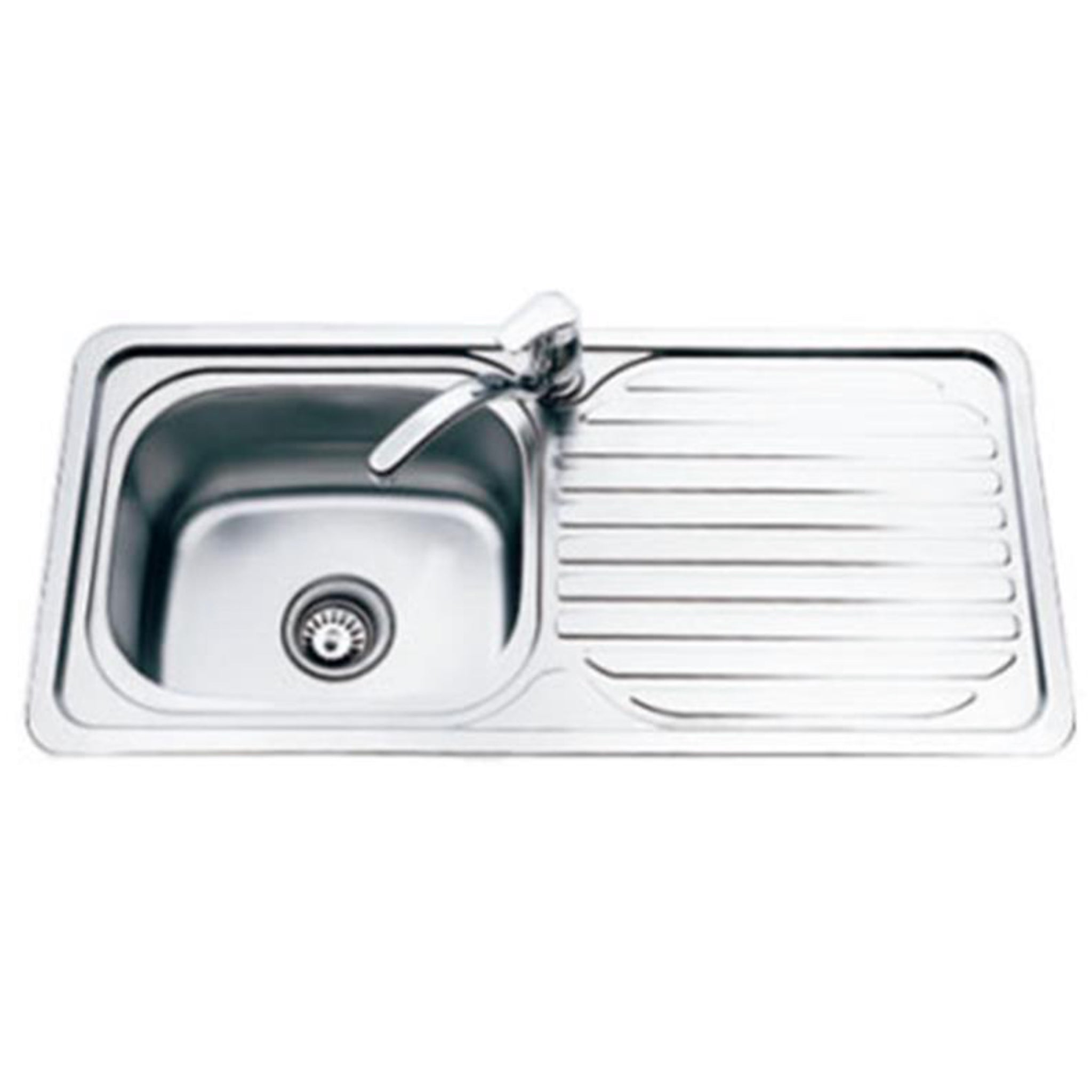 Top Mount Kitchen Sink (1 Bowl & 1 Drainer)