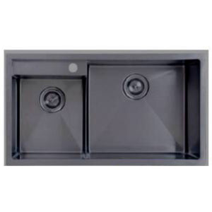 Black Steel Kitchen Sink (Double Bowl)