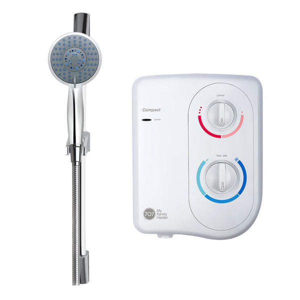 Water Heater 707 Compact With Chrome hand shower